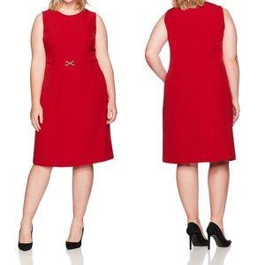 Kasper Red Sheath Plus Size Cocktail Dress